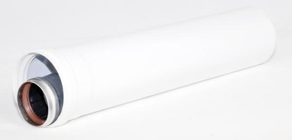 Коаксиальное удлинение дымохода 500 мм 60/100 Ariston (3318006)