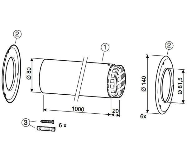 Наконечник 1000 мм d80 Bosch (AZ 387)