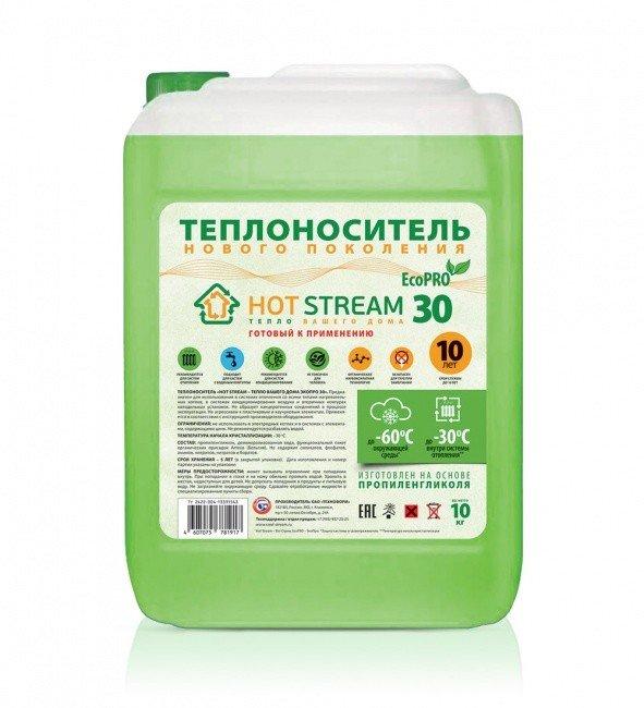 Теплоноситель Hot Stream EcoPRO 30, 10 литров