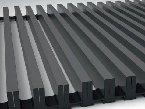 Алюминиевая решетка Koraflex 16/300