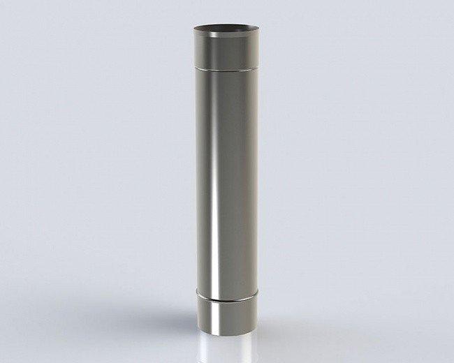 Удлинение 0,5 м (130-0.8) дымохода из нержавеющей стали