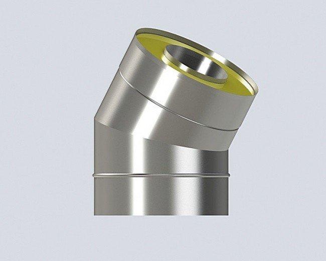 Угол 30 градусов (130/230-1/0.5) дымохода из нержавеющей стали