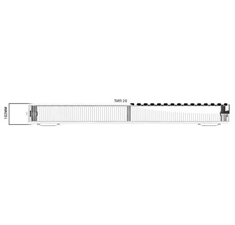 Стальной радиатор Engel БП 20 300x1500