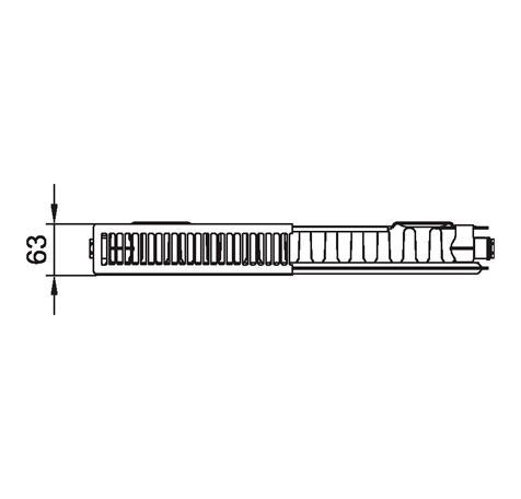 Стальной радиатор Kermi PKO 110426