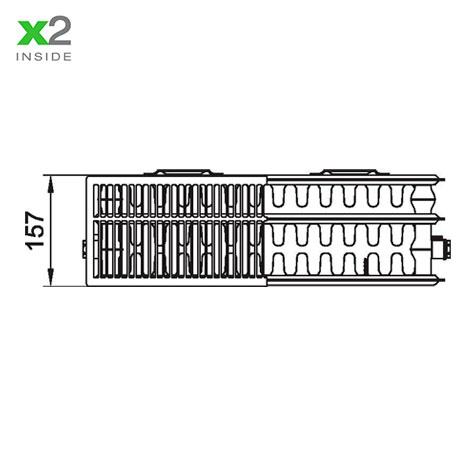 Стальной радиатор Kermi PKO 330623