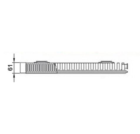 Стальной радиатор Kermi PLK 110614