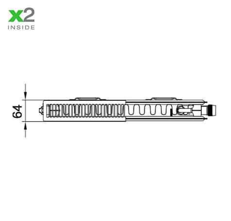 Стальной радиатор Kermi PLV 120608