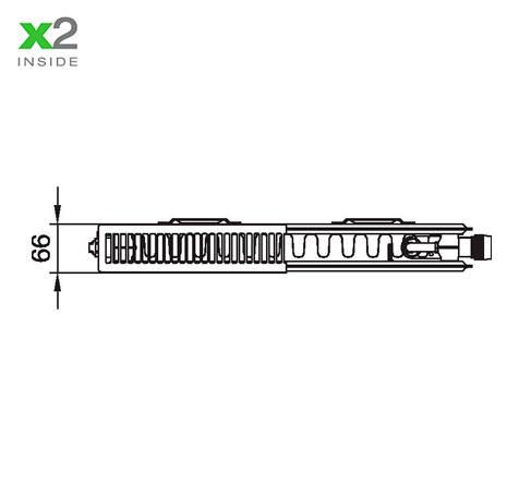 Стальной радиатор Kermi PTV 120414