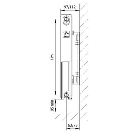 Стальной радиатор LEMAX Valve Compact 21x500x800