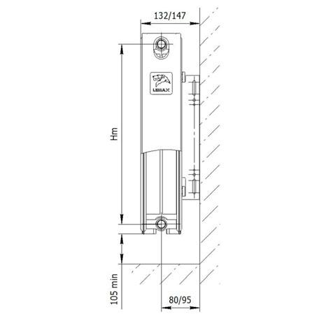 Стальной радиатор LEMAX Valve Compact 22x300x2800