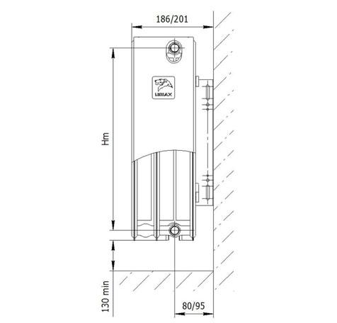 Стальной радиатор LEMAX Compact 33x500x1400