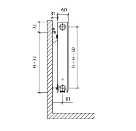 Стальной радиатор Purmo C 114001100