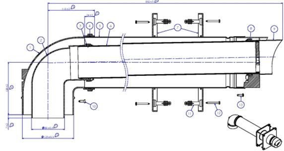 Комплект коаксиального дымохода 80/125 PP AB600